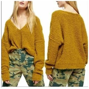 NWT Free People Finders Keepers V Neck Sweater